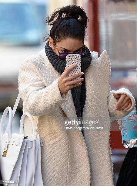 Vanessa Hudgens is seen in New York City on March 19 2015 in New York City