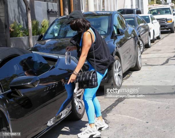 Vanessa Hudgens is seen on April 08, 2021 in Los Angeles, California.