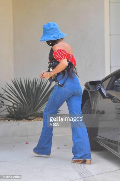 Vanessa Hudgens is seen on April 3, 2021 in Los Angeles, California.