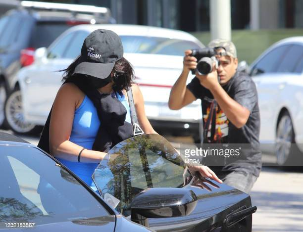 Vanessa Hudgens is seen on April 8, 2021 in Los Angeles, California.
