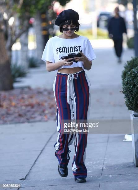 Vanessa Hudgens is seen on January 17 2018 in Los Angeles California