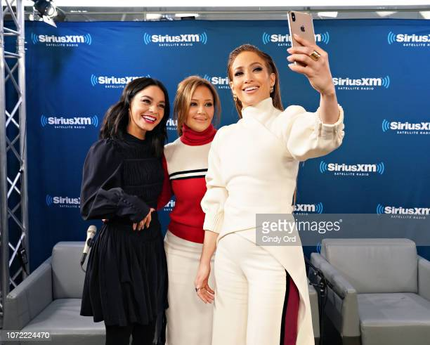Vanessa Hudgens Leah Remini and Jennifer Lopez take part in SiriusXM's Town Hall with the cast of 'Second Act' hosted by Andy Cohen at SiriusXM...