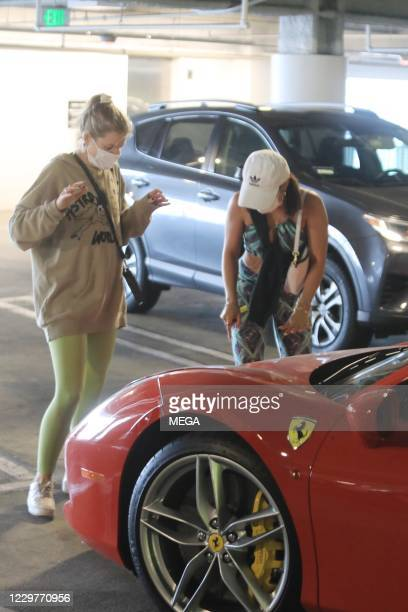 Vanessa Hudgens leaving the mall on November 24, 2020 in Los Angeles, California. (Photo by Bris/MEGA/GC Images