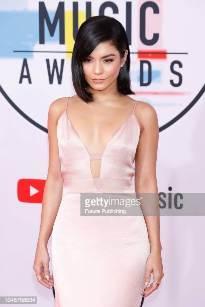 Vanessa Hudgens photographed on the red carpet of the 2018 American Music Awards at the Microsoft Theater on October 9 2018 in Los Angeles USA