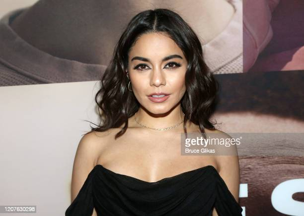 Vanessa Hudgens poses at the opening night of the revival of Ivo van Hove's West Side Storyon Broadway at The Broadway Theatre on February 20 2020 in...
