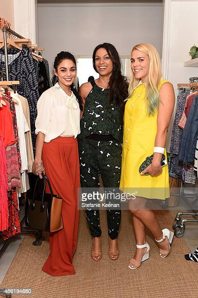 Vanessa Hudgens Rosario Dawson and Busy Phillips attend The A List 15th Anniversary Party on September 1 2015 in Beverly Hills California