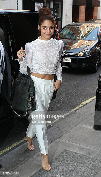 Vanessa Hudgens seen arriving at KISS FM on July 16 2013 in London England