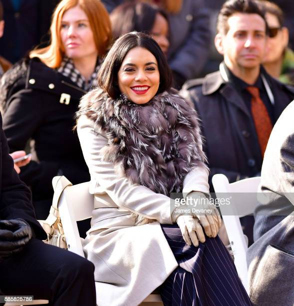 Vanessa Hudgens seen on location for 'Second Act' in Central Park on December 4 2017 in New York City