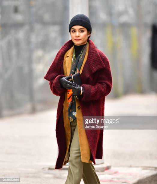 Vanessa Hudgens seen on location for 'Second Act' in SoHo on May 6 2018 in New York City