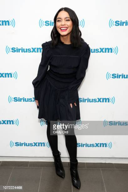 Vanessa Hudgens takes part in SiriusXM's Town Hall with the cast of 'Second Act' hosted by Andy Cohen at SiriusXM Studios on December 12 2018 in New...