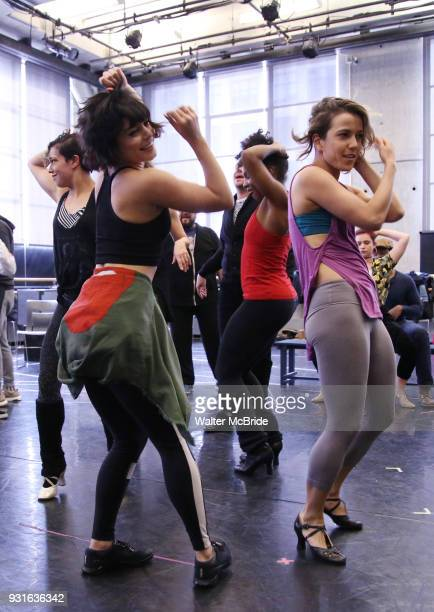 Vanessa Hudgens with cast during the Broadway Center Stage Rehearsal for 'In the Heights' on March 13 2018 at Baryshnikov Arts Center in New York City