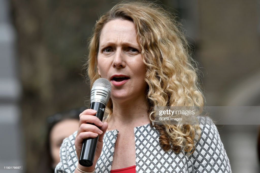 Vanessa Hudson, (Animal  Welfare Party) speaks during the... : News Photo