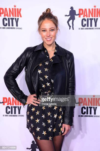 Vanessa Huppenkothen during the opening of the 'Udo Lindenberg Experience - Panik City' on the Reeperbahn on March 19, 2018 in Hamburg, Germany.