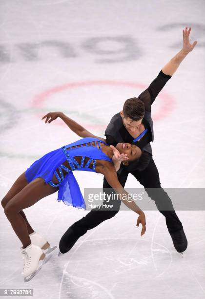 Vanessa James and Morgan Cipres of France compete during the Pair Skating Short Program on day five of the PyeongChang 2018 Winter Olympics at...