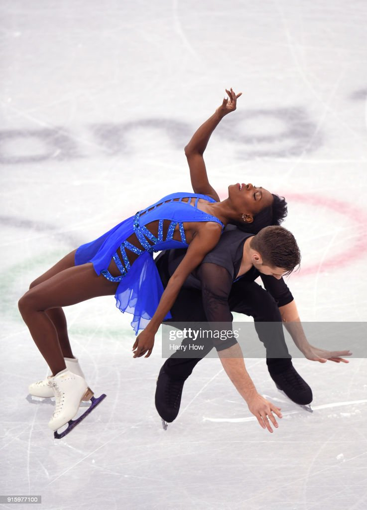 Figure skating winter olympics day 0 vanessa james and morgan cipres of france compete in the figure skating team event pair voltagebd Gallery