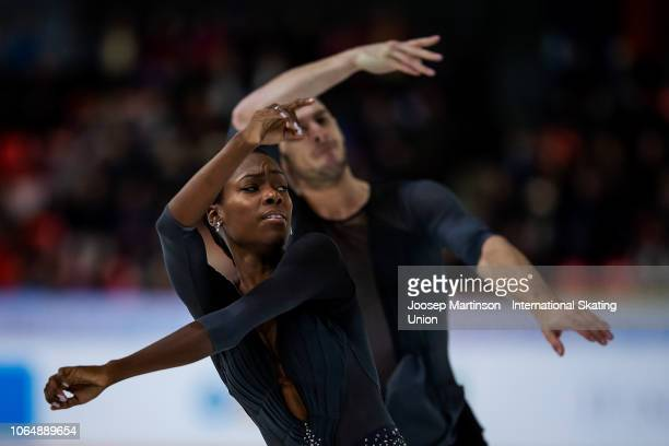 Vanessa James and Morgan Cipres of France compete in the Pairs Free Skating during day 2 of the ISU Grand Prix of Figure Skating Internationaux de...