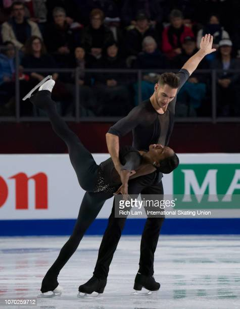 Vanessa James and Morgan Cipres of France compete in the Pairs Free Skate portion of the Pair Competition on December 2018 at the ISU Junior Senior...