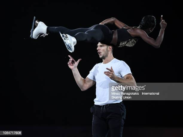 Vanessa James and Morgan Cipres of France perform during the ISU Grand Prix of Figure Skating Skate Canada International exhibition program at Place...