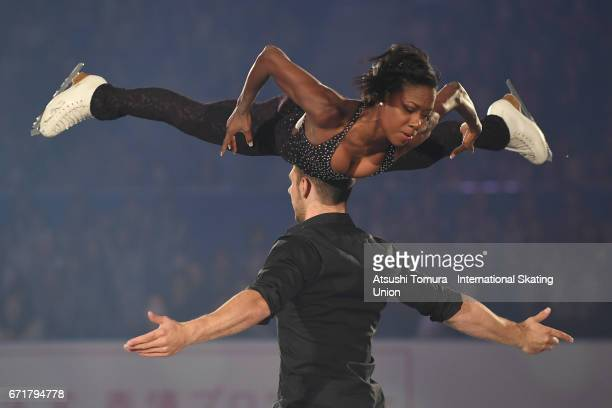 Vanessa James and Morgan Cipres of France perform in the gala exhibition during the day 4 of the ISU World Team Trophy 2017 on April 23 2017 in Tokyo...