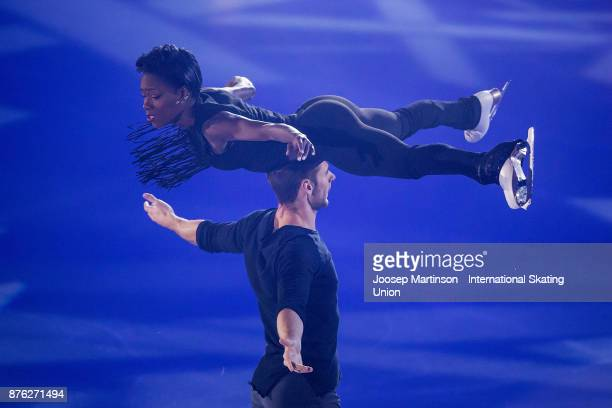 Vanessa James and Morgan Cipres of France perform in the Gala Exhibition during day three of the ISU Grand Prix of Figure Skating at Polesud Ice...