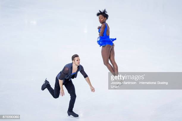 Vanessa James and Morgan Cipres of Italy compete in the Pairs Short Program during day one of the ISU Grand Prix of Figure Skating at Polesud Ice...