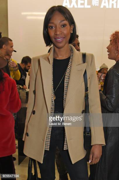 Vanessa Kingori attends the What We Wear x Axel Arigato pop up shop launch party on February 28 2018 in London England