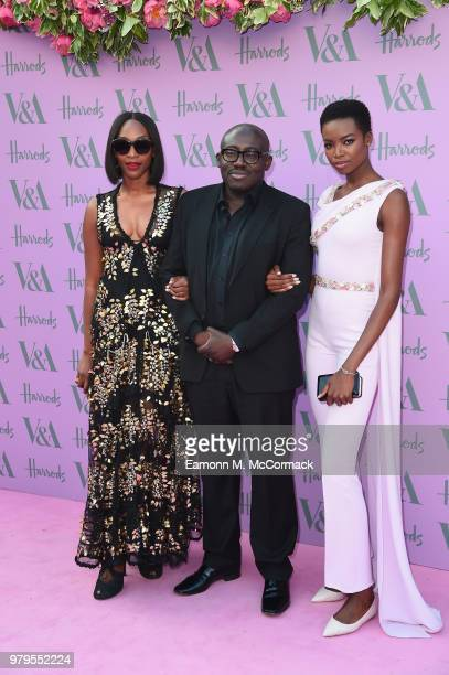 Vanessa Kingori Edward Enninful and Maria Borges attend the VA Summer Party at The VA on June 20 2018 in London England
