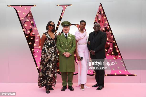 Vanessa Kingori the Harrods Green Man Maria Borges and Edward Enninful attend the Summer Party at the VA in partnership with Harrods at the Victoria...