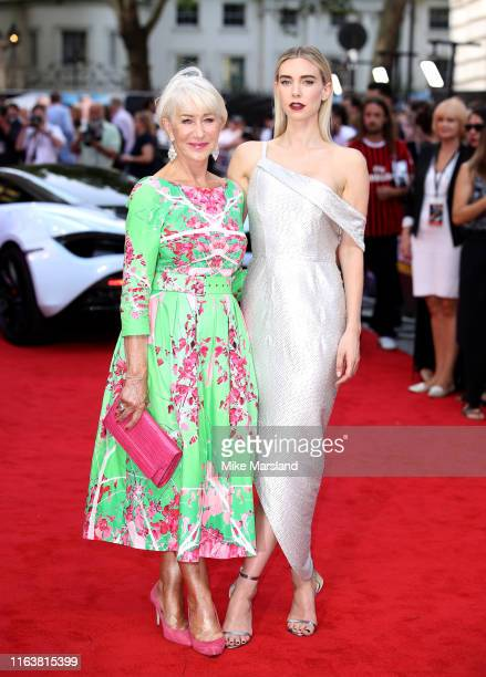 Vanessa Kirby and Dame Helen Mirren attend the Fast Furious Hobbs Shaw Special Screening at The Curzon Mayfair on July 23 2019 in London England