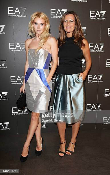 Vanessa Kirby and Roberta Armani attend as EA7 Emporio Armani Summer Garden Live presents Summer of Sport at Emporio Armani on June 19 2012 in London...