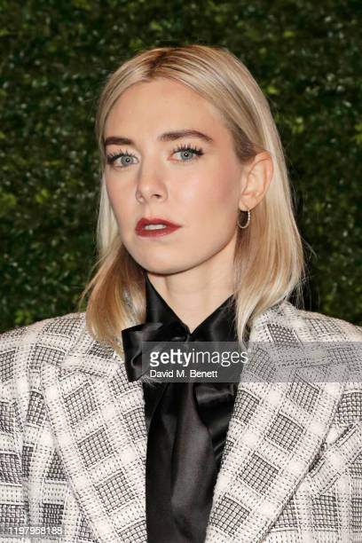 Vanessa Kirby arrives at the Charles Finch CHANEL PreBAFTA Party at 5 Hertford Street on February 1 2020 in London England