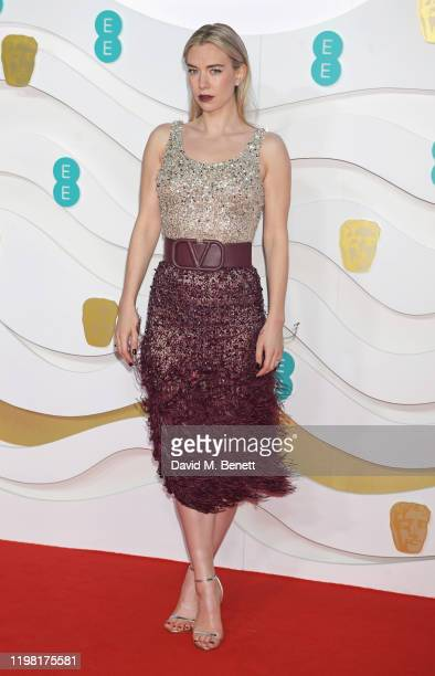 Vanessa Kirby arrives at the EE British Academy Film Awards 2020 at Royal Albert Hall on February 2 2020 in London England