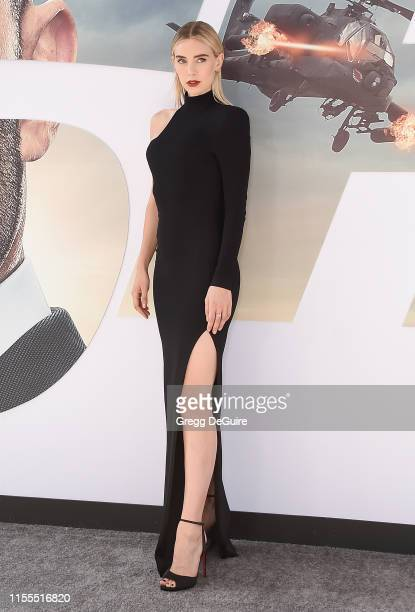 Vanessa Kirby arrives at the Premiere Of Universal Pictures' Fast Furious Presents Hobbs Shaw at Dolby Theatre on July 13 2019 in Hollywood California