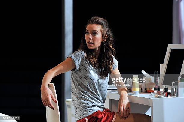 Vanessa Kirby as Stella Kowalski in Tennessee Williams's A Streetcar Named Desire directed by Benedict Andrews at the Young Vic in London