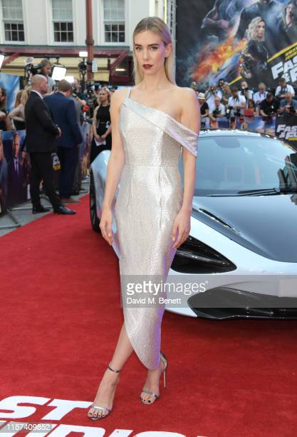 """Vanessa Kirby attends a special screening of """"Fast & Furious: Hobbs & Shaw"""" at The Curzon Mayfair on July 23, 2019 in London, England."""