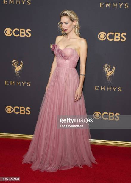 Vanessa Kirby attends the 69th Annual Primetime Emmy Awards at Microsoft Theater on September 17 2017 in Los Angeles California