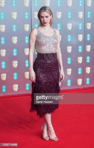 Vanessa Kirby attends the EE British Academy Film Awards 2020 at Royal Albert Hall on February 02 2020 in London England