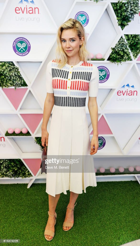 Vanessa Kirby attends the evian Live Young suite during Wimbledon 2017 on July 16, 2017 in London, England.