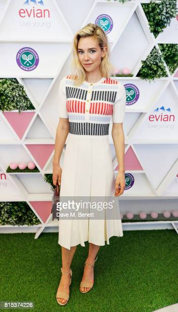 Vanessa Kirby attends the evian Live Young suite during Wimbledon 2017 on July 16 2017 in London England