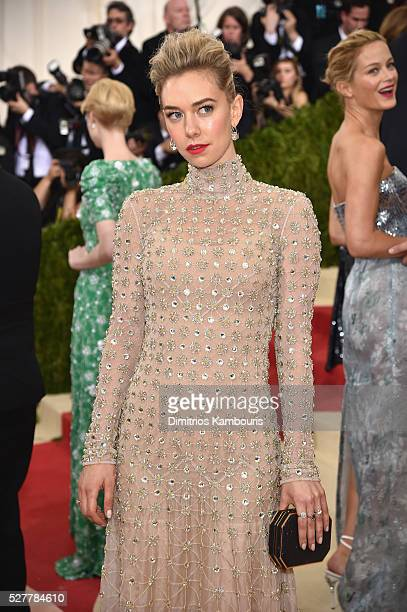 Vanessa Kirby attends the 'Manus x Machina Fashion In An Age Of Technology' Costume Institute Gala at Metropolitan Museum of Art on May 2 2016 in New...