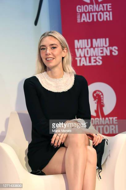 Vanessa Kirby attends the Miu Miu Women's Tales meeting during the 77th Venice Film Festival on September 08, 2020 in Venice, Italy.
