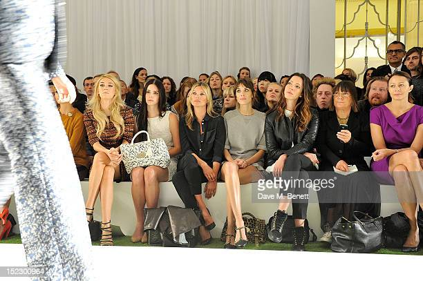 Vanessa Kirby Lana Del Rey Kate Moss Alexa Chung Rebecca Hall Hilary Alexander and Caroline Rush sit in the front row during the Mulberry...