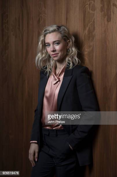 Vanessa Kirby poses for a photo during 'The Crown' costume event at The VA on March 2 2018 in London England