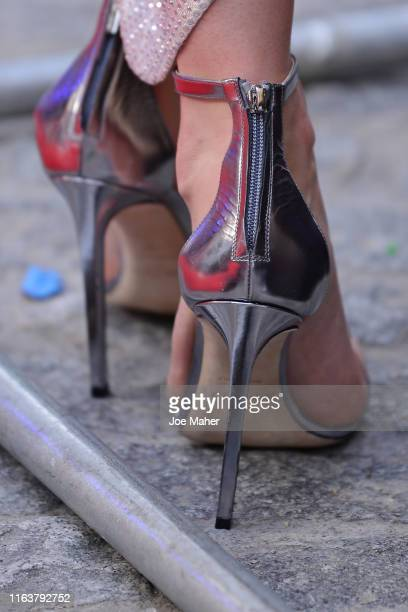 Vanessa Kirby shoe detail attends the Fast Furious Hobbs Shaw Special Screening at The Curzon Mayfair on July 23 2019 in London England