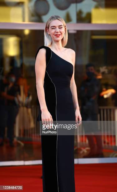 Vanessa Kirby walks the red carpet ahead of closing ceremony at the 77th Venice Film Festival on September 12, 2020 in Venice, Italy.