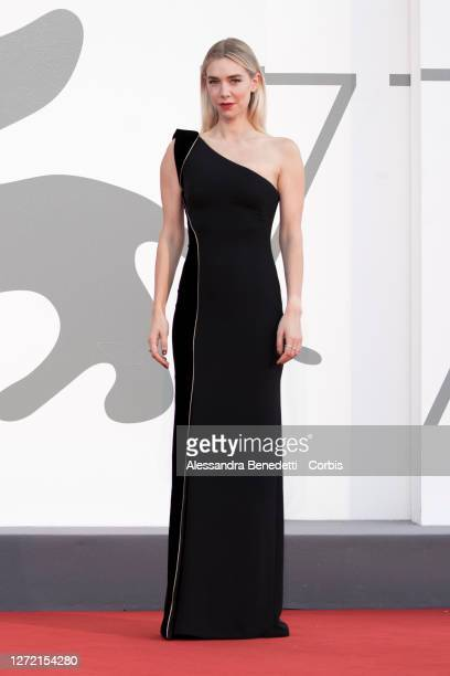 Vanessa Kirby walks the red carpet ahead of the closing ceremony at the 77th Venice Film Festival on September 12, 2020 in Venice, Italy.