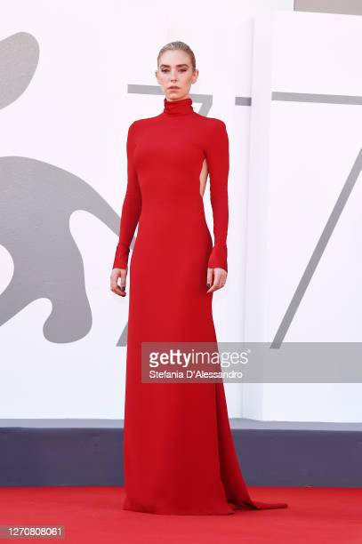 """Vanessa Kirby walks the red carpet ahead of the movie """"Pieces of a woman"""" at the 77th Venice Film Festival on September 05, 2020 in Venice, Italy."""