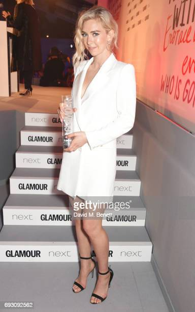 Vanessa Kirby winner of the UK TV Actress award attends the Glamour Women of The Year Awards 2017 in Berkeley Square Gardens on June 6 2017 in London...