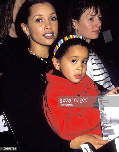 Vanessa L Williams and daughter Melanie Hervey during Fall Fashion Week Fashion By Donna Karan at Bryant Park in New York City New York United States