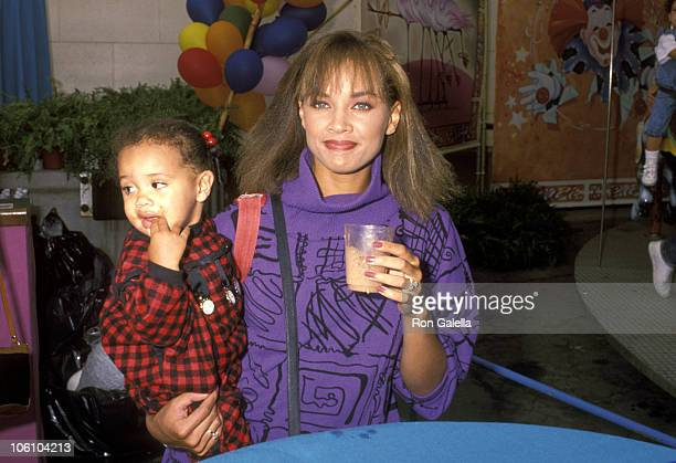 Vanessa L Williams and daughter Melanie Hervey during Oliver Company Los Angeles Premiere at Walt Disney Studios in Burbank California United States